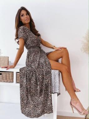 Платье леопард гепард